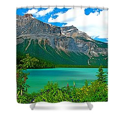 Emerald Lake In Yoho Np-bc Shower Curtain
