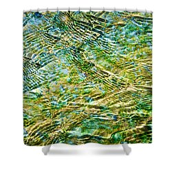 Emerald Water Shower Curtain