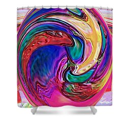 Emergence - Digital Art Shower Curtain
