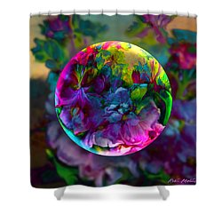 Shower Curtain featuring the painting Emerging Spring  by Robin Moline
