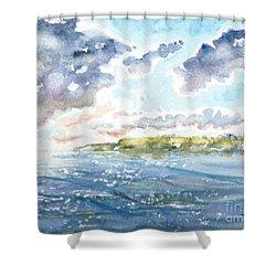Emerging Sun  Shower Curtain