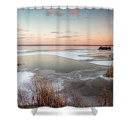 Emiquon Sunset Shower Curtain