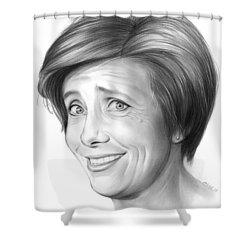 Emma Thompson Shower Curtain by Greg Joens