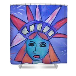 Emma's Lady Liberty Shower Curtain by Alice Gipson
