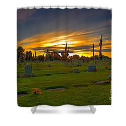 Emmett Cemetery Shower Curtain by Robert Bales