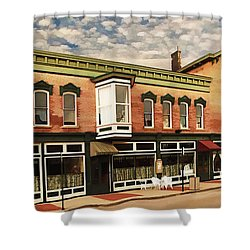 Shower Curtain featuring the photograph Emmitt House At Emmitt Avenue by Jaki Miller