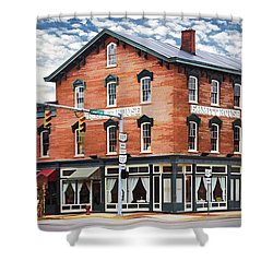 Shower Curtain featuring the photograph Emmitt House Corner by Jaki Miller