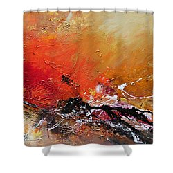 Shower Curtain featuring the painting Emotion 2 by Ismeta Gruenwald