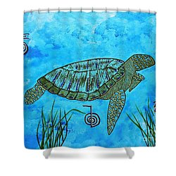 Emotional Healing With The Sea Turtle Shower Curtain
