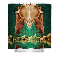 Emotional Support Shower Curtain by WB Johnston