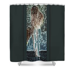 Shower Curtain featuring the digital art Emotionally Fragile by Paula Ayers