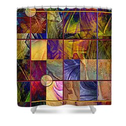 Shower Curtain featuring the painting Emotive Tapestry by Allison Ashton