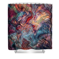 Empathic Psychic Shower Curtain by Linda Sannuti
