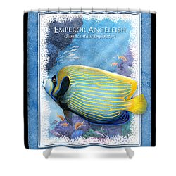 Emperor Angelfish Shower Curtain