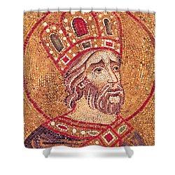 Emperor Constantine I Shower Curtain by Byzantine School