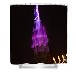 Empire Light Blur Shower Curtain