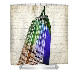 Empire State Building Shower Curtain by Aged Pixel