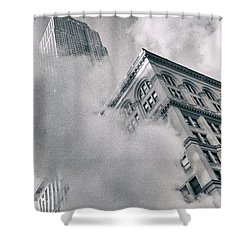 Empire State Building And Steam Shower Curtain