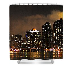 Empire State Building From Long Island City Shower Curtain