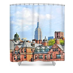 Empire State Building From The High Line Shower Curtain by Randy Aveille