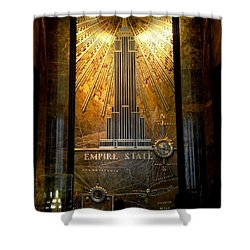 Empire State Building - Magnificent Lobby Shower Curtain by Miriam Danar