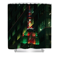Empire State Building Reflection Shower Curtain
