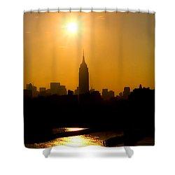 Empire Sunrise Shower Curtain by Joann Vitali