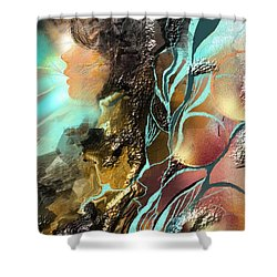 Emprise Shower Curtain by Francoise Dugourd-Caput