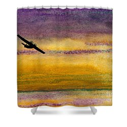 Empty Ocean Ahead - Pby Catalina Flying Boat From Wwii Shower Curtain