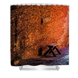 Empty Seat On A Hill Shower Curtain by Bob Orsillo