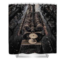 Empty Spool Shower Curtain by Susan Candelario