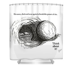 Empty Tomb Shower Curtain