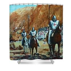 En Route To Battle Shower Curtain