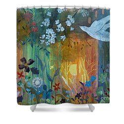 Shower Curtain featuring the painting Encantador by Robin Maria Pedrero