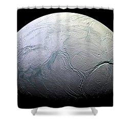 Enceladus Shower Curtain by Adam Romanowicz