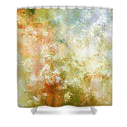 Enchanted Blossoms - Abstract Art Shower Curtain by Jaison Cianelli