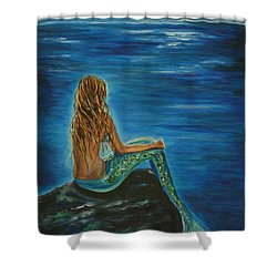 Enchanted Mermaid Beauty Shower Curtain by Leslie Allen