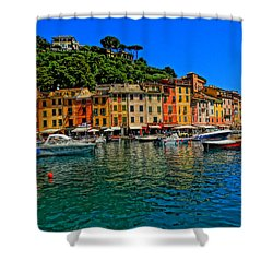 Enchanting Portofino In Ligure Italy II Shower Curtain by M Bleichner