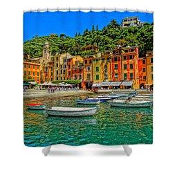 Enchanting Portofino In Ligure Italy IIi Shower Curtain by M Bleichner