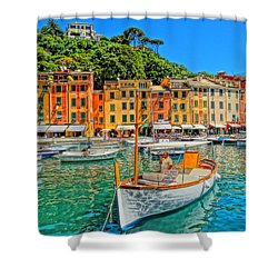Enchanting Portofino In Ligure Italy V Shower Curtain by M Bleichner