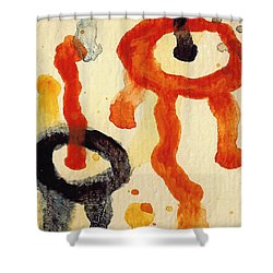 Encounters 6 Shower Curtain by Amy Vangsgard