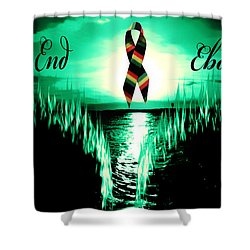 Shower Curtain featuring the photograph End Ebola by Eddie Eastwood