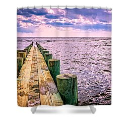 End Of A Glorious Day Shower Curtain by Edward Fielding