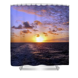 Hawaiian End Of Day Shower Curtain