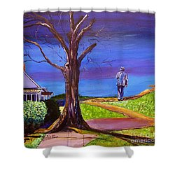 End Of Day Highway 98 Shower Curtain by Ecinja Art Works