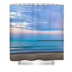 Shower Curtain featuring the photograph End Of The Blue Hour by Steven Santamour