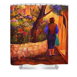 End Of The Day Shower Curtain by Glory Wood