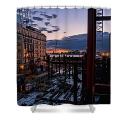End Of The Day Shower Curtain by Steve Sahm