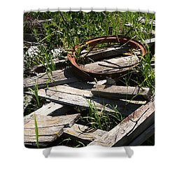 Shower Curtain featuring the photograph End Of The Line by Meghan at FireBonnet Art