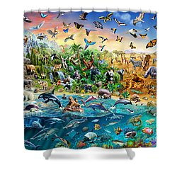 Endangered Species Shower Curtain by Adrian Chesterman